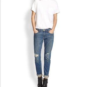 "Frame ""Le Garçon"" Distressed Jeans in Brooks"